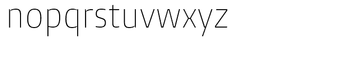 Burlingame Condensed Thin Font LOWERCASE