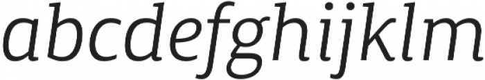 Canberra FY Book Italic otf (400) Font LOWERCASE