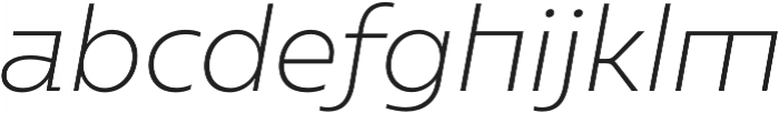 Caprina ExtraLight It otf (200) Font LOWERCASE