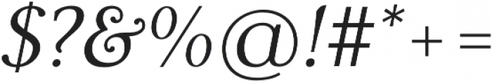 Carrig Pro Light Italic otf (300) Font OTHER CHARS