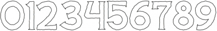 Cascade-Rough Outline otf (400) Font OTHER CHARS