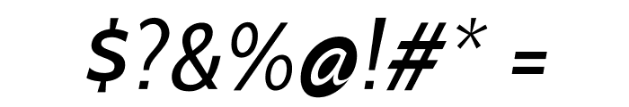 Cabin-Italic Font OTHER CHARS