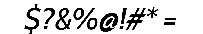 Cabin VF Beta Italic Font OTHER CHARS