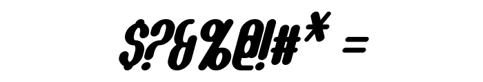 Callie-Mae Bold Italic Font OTHER CHARS