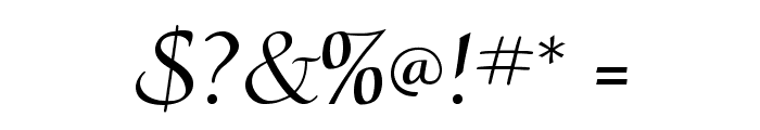 CalligraphyFLF Font OTHER CHARS