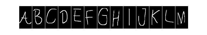 Cannot Into the Fontz Font LOWERCASE