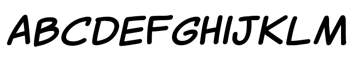 Canted Comic Bold Font UPPERCASE