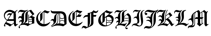 Canterbury Regular Font UPPERCASE