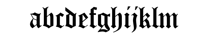 Canterbury Regular Font LOWERCASE