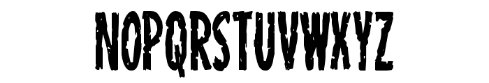 Carnival Corpse Condensed Font UPPERCASE
