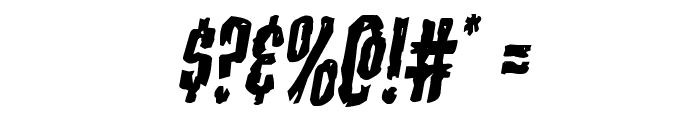 Carnival Corpse Italic Font OTHER CHARS