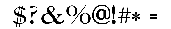 Caslon-Bold Font OTHER CHARS