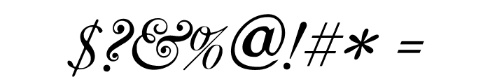 CaslonItalic Font OTHER CHARS