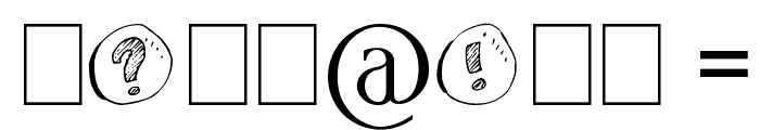 cailloux Font OTHER CHARS