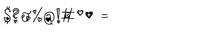 Capital Love Caps Font OTHER CHARS