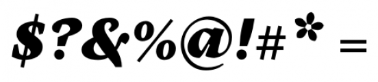 Cardea Black Italic Font OTHER CHARS