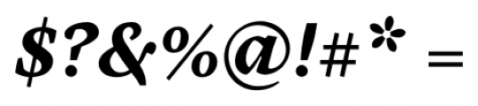 Cardea Bold Italic Font OTHER CHARS