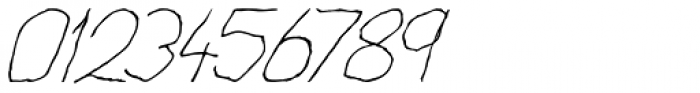 Cack-handed Italic Font OTHER CHARS