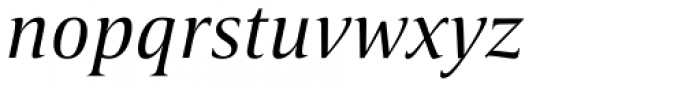 Candide Italic Font LOWERCASE