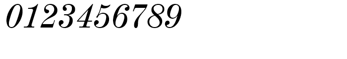 Century 725 Italic Font OTHER CHARS