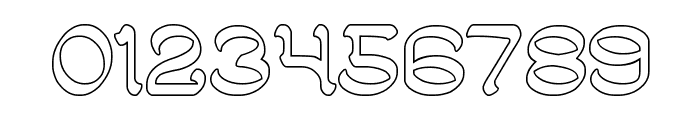 ARABIAN KNIGHT-Hollow Font OTHER CHARS