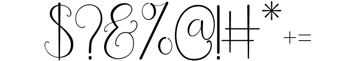 Beauty And Love Script Font OTHER CHARS