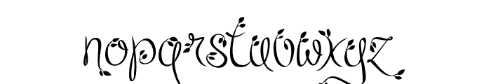 Leafyction Regular Font LOWERCASE