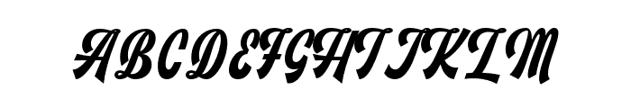 Monthelo Font UPPERCASE