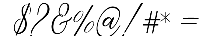 Peach Font OTHER CHARS