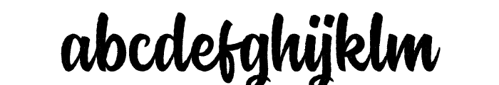 Rockaboy Rought Font LOWERCASE