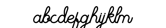 The Beautyline Font LOWERCASE