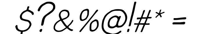 snacker Italic Font OTHER CHARS