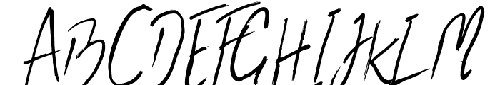 the flashter Font UPPERCASE
