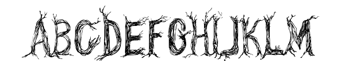 CF One Two Trees Regular Font UPPERCASE
