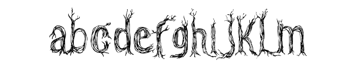 CF One Two Trees Regular Font LOWERCASE