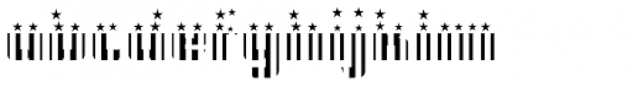 CFB1 American Patriot SPANGLE 2 Bold Font LOWERCASE