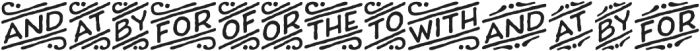 Charcuterie Catchwords otf (400) Font UPPERCASE