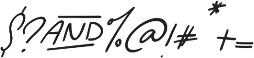 Cheerful Elf Italics otf (400) Font OTHER CHARS