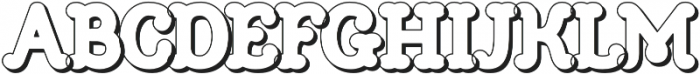 Church in the Wildwood Inspired Brass Shadow Only otf (400) Font LOWERCASE