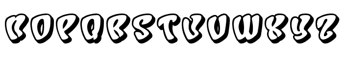 Character Shadow Font UPPERCASE