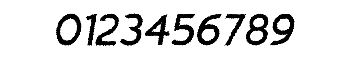 Charger Distortion 1 Italic Font OTHER CHARS