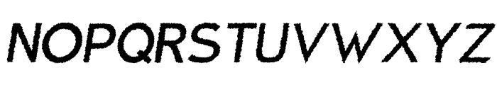 Charger Distortion 1 Italic Font UPPERCASE