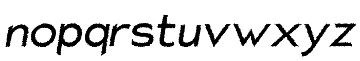 Charger Distortion 1 Italic Font LOWERCASE