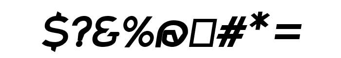 Charger Sport Bold Extended Oblique Font OTHER CHARS