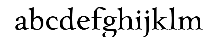 Charpentier Renaissance Reduced Normal Font LOWERCASE