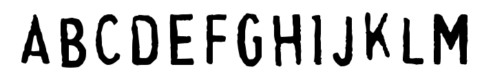 Cheapskate Fill Font LOWERCASE