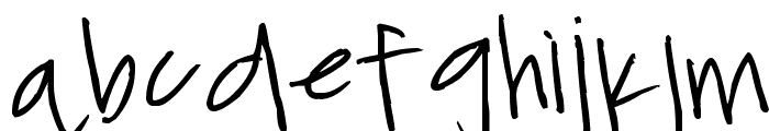 ChickenScratch Font LOWERCASE