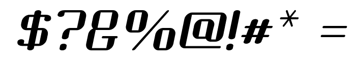 Choktoff Oblique Font OTHER CHARS