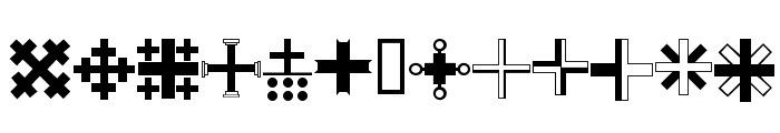Christian Crosses III Font UPPERCASE
