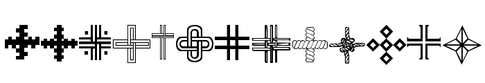Christian Crosses III Font LOWERCASE